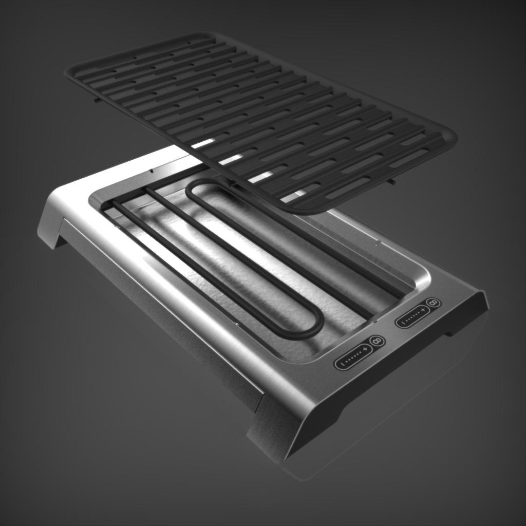 Tischgrill werk m produktdesign for Tischgrill design