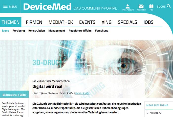 Werk-m Interview Mit DeviceMed: Die Zukunft Der Medizintechnik